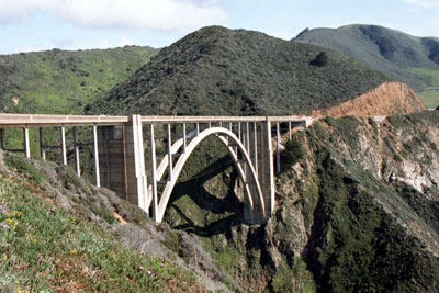 Bixby Bridge spans Bixby Creek where the Sea Otters were rediscovered in 1938.