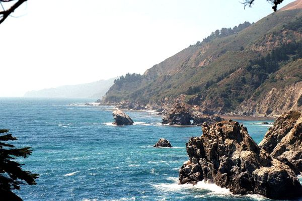 Photo by Stan Russell, looking north from the environmental camps at Julia Pfeiffer Burns State Park
