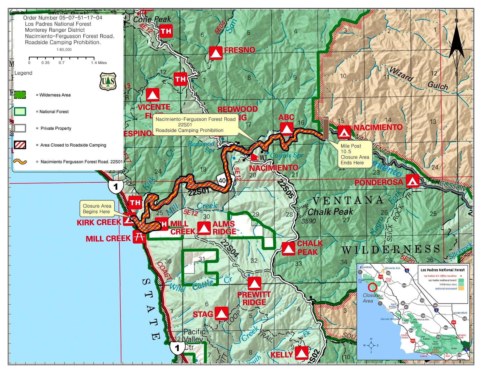 Map Of California 5 Freeway.Highway 1 Conditions In Big Sur California