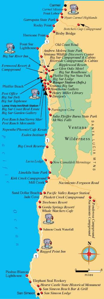 Karta Berkeley California.Maps Directions And Transportation To Big Sur California
